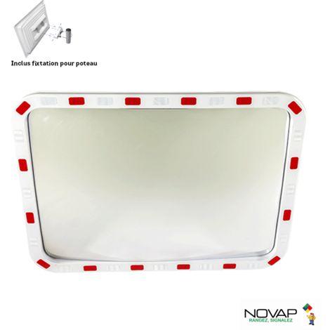 Miroir de sécurité pour voies privée - 800 x 600 mm - 6101536