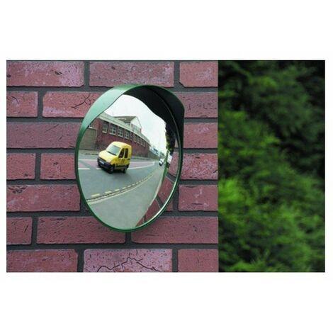 Miroir de sortie diametre40 cm distance vision 5mcasquette anti-pluie - vert