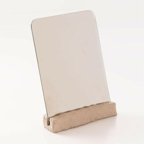 Miroir de table Lester SKLUM Ciment - Beige Crème