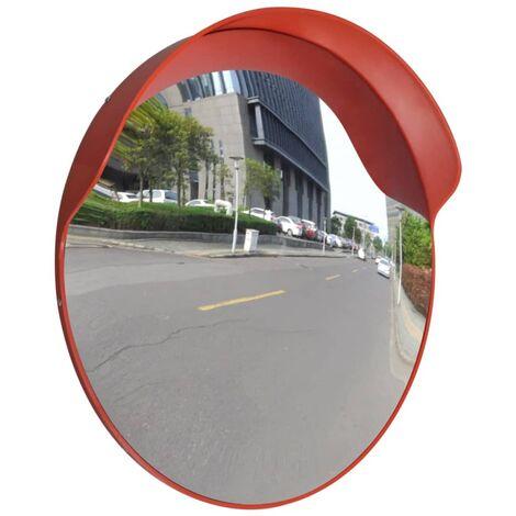 Miroir de trafic convexe Plastique Orange 60 cm
