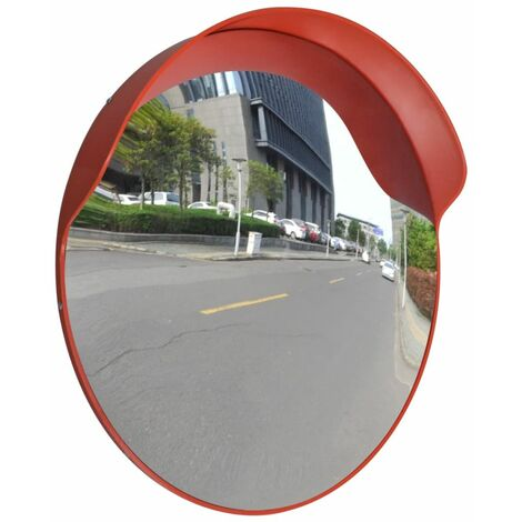 Miroir De Trafic Convexe, Plastique, Orange, 60 Cm