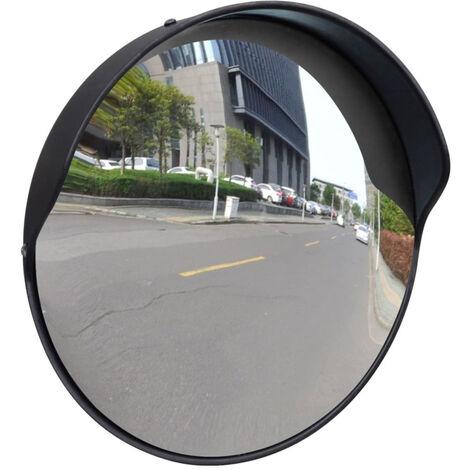 Miroir De Trafic Plastique, Noir, 30 Cm