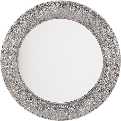 Miroir décoratif argenté de forme ronde