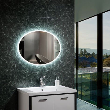Miroir Décoratif LED Hawái 45W Blanc Froid 6000K - 6500K
