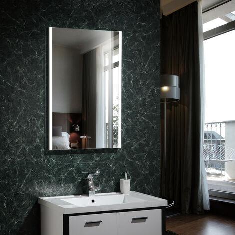 Miroir Décoratif LED Panama avec Horloge Numérique Intégrée 100W Blanc Froid 6000K - 6500K - Blanc Froid 6000K - 6500K