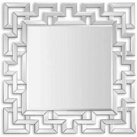 Miroir design décoratif moderne de grand cm H80xL80xS2 Artedalmondo HM013A8080
