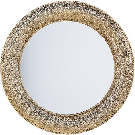 Miroir doré de forme ronde CHANNAY