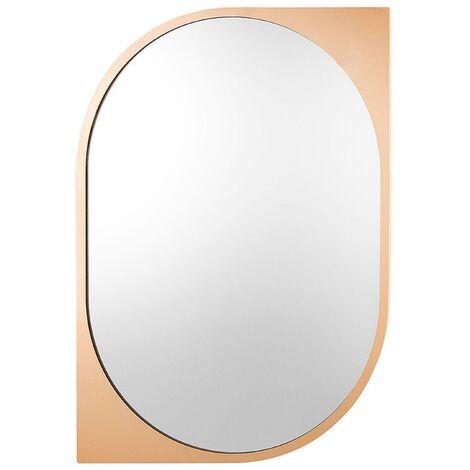 Miroir doré élégant de forme ovale moderne