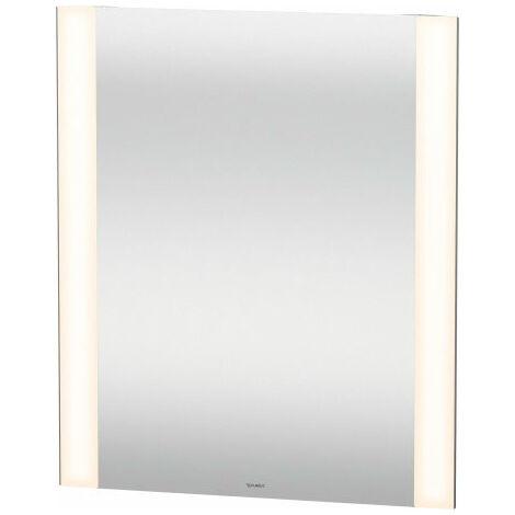 Miroir Duravit Best avec éclairage, avec commutation par capteur, chauffage du miroir, champs lumineux latéraux à DEL, Longueur: 800mm - LM7886D0000