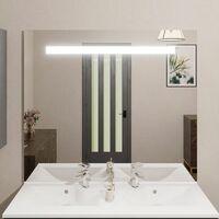 Miroir ELEGANCE 120x105 cm - éclairage intégré à LED et interrupteur sensitif