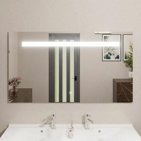 Miroir ELEGANCE 140x80 cm - éclairage intégré à LED et interrupteur sensitif