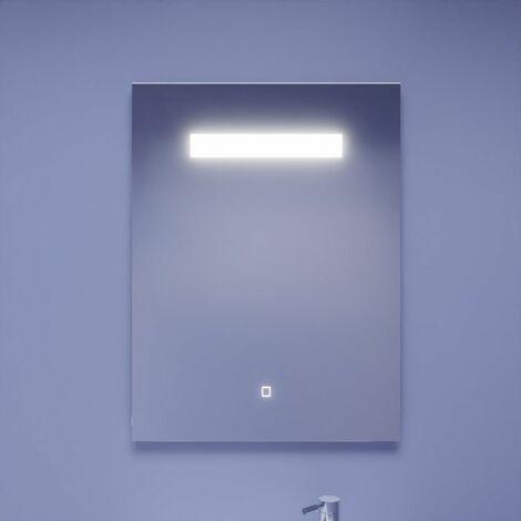 Miroir ELEGANCE 60x80 cm - éclairage intégré à LED et interrupteur sensitif