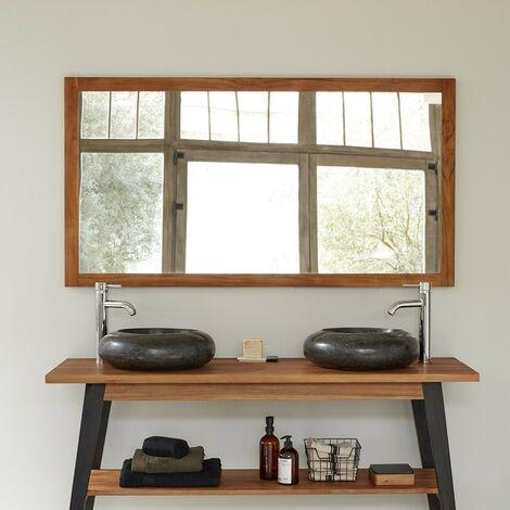 Miroir en bois de teck 150 cm - Marron