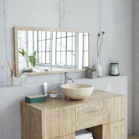 Miroir en bois d'hévéa 120 - Gris