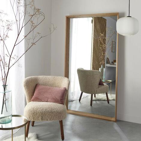 """main image of """"Miroir en Bois Rectangulaire H180 cm - GABY - Bois clair"""""""