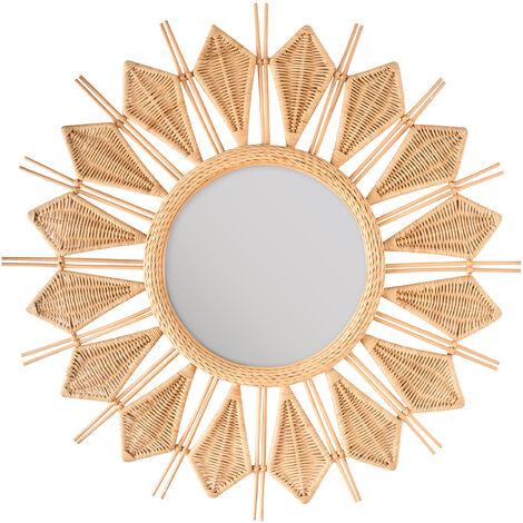 Miroir en rotin dalida - Miroir en rotin ...