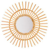 Miroir en rotin soleil - Dim : D 58 cm