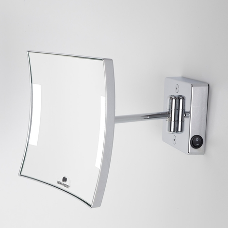 Miroir grossissant à LED alimentation direct IP23 Quadrolo simple bras - Koh-I-Noor H601KK3