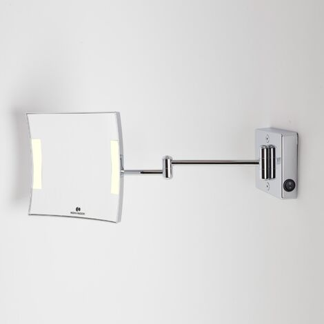 Miroir grossissant à LED Quadrolo bras double alimentation directe - Koh-I-Noor C602KK3