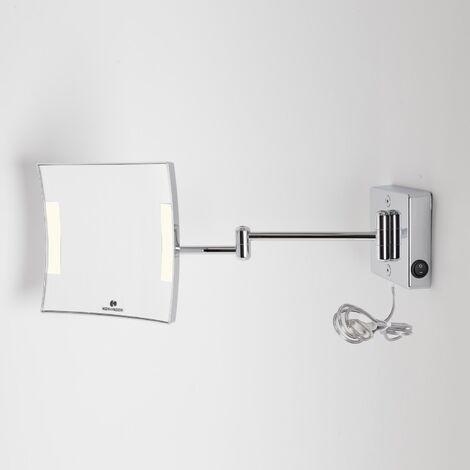 Miroir grossissant à LED Quadrolo bras double alimentation externe - Koh-I-Noor C602