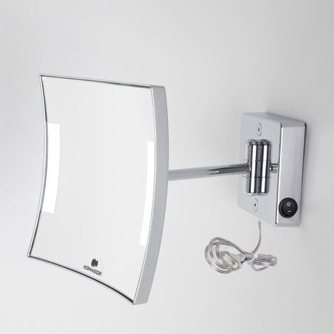 Miroir grossissant à LED Quadrolo bras simple IP23 alimentation direct - Koh-I-Noor C6011KK3