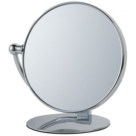 Miroir Grossissant à poser X10 - Finition Chrome - Diamètre: 20 cm