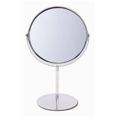 Miroir Grossissant à poser (X2) - Chrome - Diamètre: 17 cm