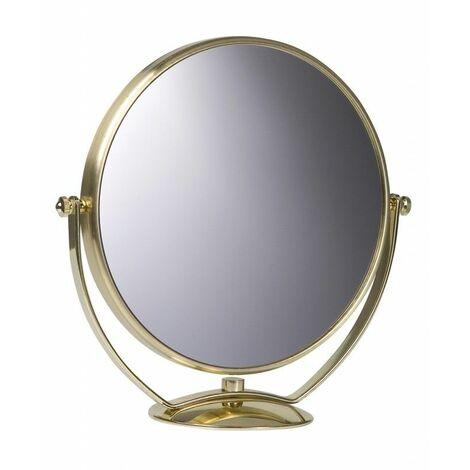 Miroir Grossissant à poser (X7) - Doré - Diamètre: 20 cm