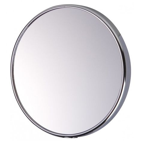 Miroir Grossissant à ventouse (X5) - Chrome - Diamètre: 15 cm - Chrome