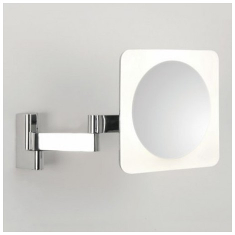 Miroir Grossissant Lumineux Mural Niimi Square Led Chrome