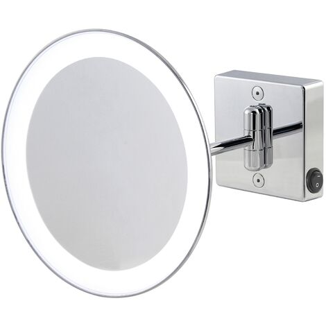 Miroir grossissant x2 à LED alimentation direct IP23 Discolo simple bras - Koh-I-Noor H351KK2