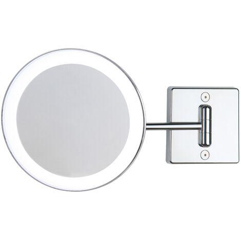 Miroir grossissant x2 à LED alimentation externe simple bras argent - Koh-I-Noor C361KK2