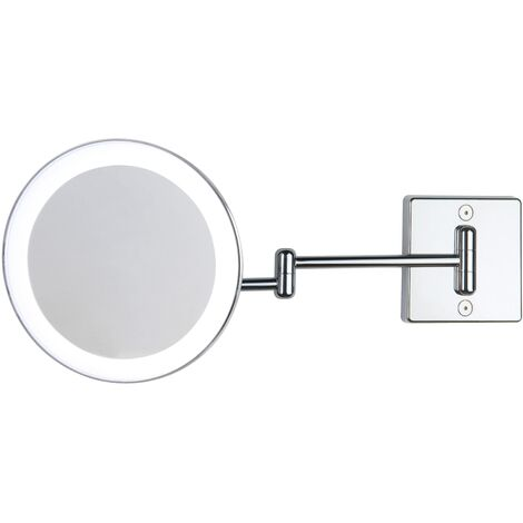 Miroir grossissant x3 à LED alimentation direct IP23 Discolo double bras argent - Koh-I-Noor C352KK3