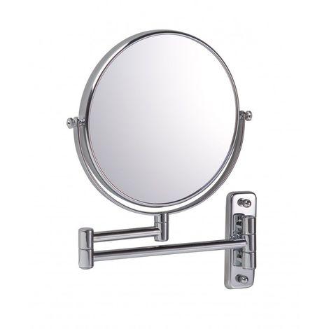 Miroir Grossissant (X7) Mural - Diamètre: 20 cm - Chrome