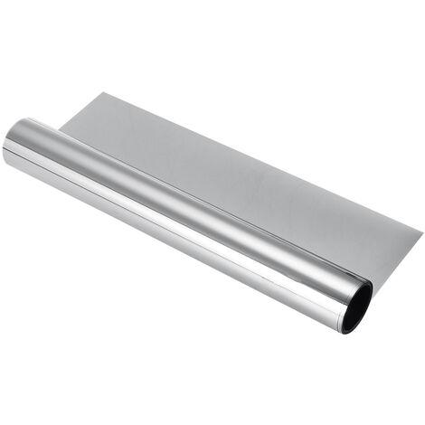 Miroir Isolation Solaire Teinte Fenêtre Film Autocollants Réfléchissant UV One Way Privacy - Noir / Argent / Bleu / Vert / Gris Diamant Argent 60cmX400cm argent 60cm par 400cm