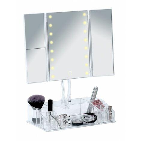 """main image of """"Miroir LED à poser avec organiseur - Fanano - Livraison gratuite"""""""