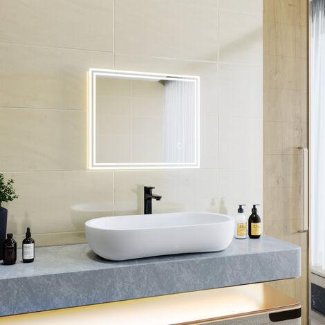 """main image of """"Miroir led Miroir de salle de bains avec éclairage LED Miroir Cosmétiques Mural Lumière Illumination avec Commande par Effleurement 100x60 CM"""""""