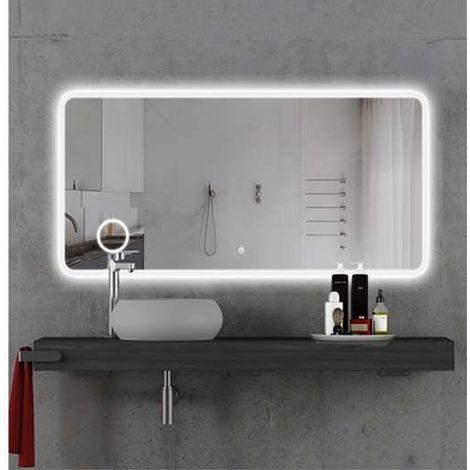 Miroir LED salle de bain 118x60cm Simply