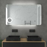 Miroir 'Led Silver Shadow'