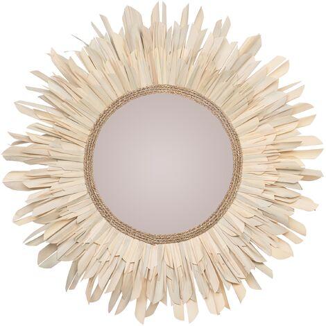 Miroir Lova en matière naturelle Ø 110 cm