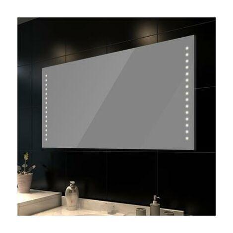 Miroir lumineux de salle de bain à led 100 x 60 cm