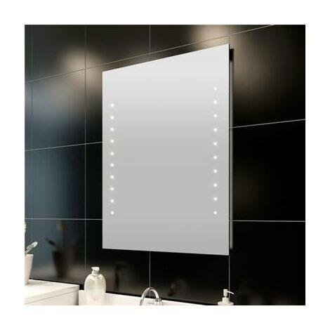 Miroir lumineux de salle de bain à led 50 x 60 cm