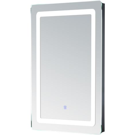 Miroir lumineux LED de salle de bain 9 W dim. 50 x 4 x 70 cm