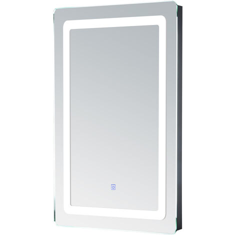 Miroir lumineux LED de salle de bain 9 W dim. 50 x 4 x 70 cm - Blanc