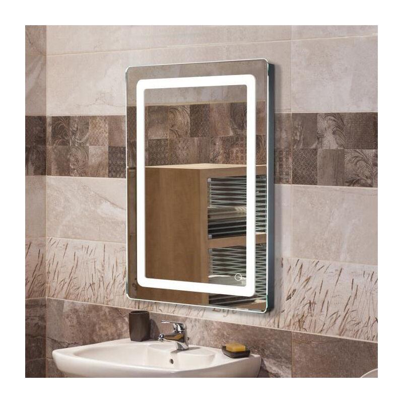 Miroir Lumineux Led De Salle De Bain 9 W Dimension 50 X 4 X 70 Cm