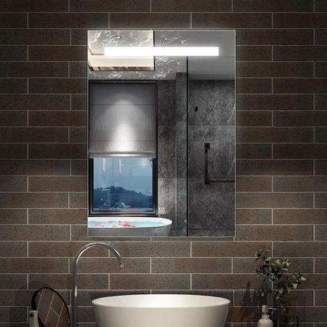 Miroir lumineux LED miroir de salle de bain anti-buée modèle de nuage
