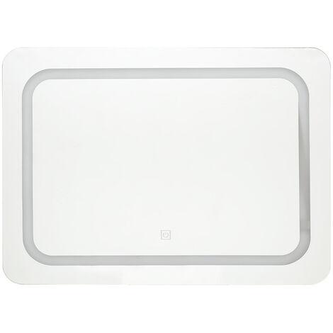 Miroir lumineux LED rectangle tactile