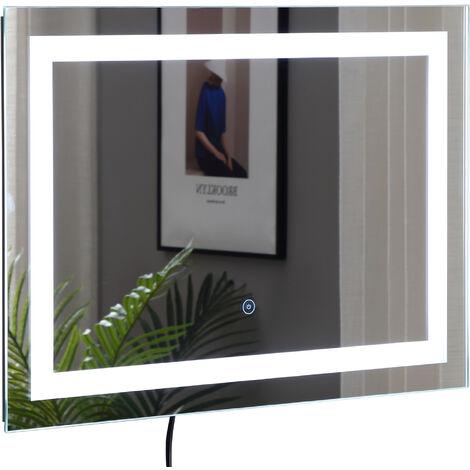 Miroir lumineux LED salle de bain 38 W interrupteur tactile 50L x 4l x 70H cm