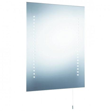 Miroir lumineux salle de bain, LED, alimenté par piles