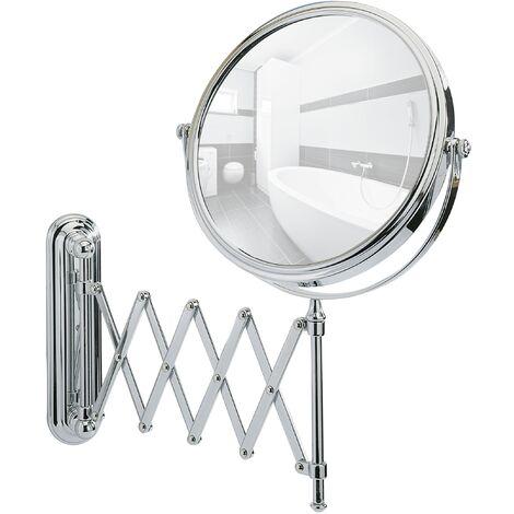 Miroir maquillage mural télescopique, miroir grossissant x50, Ø 20 cm, Deluxe WENKO